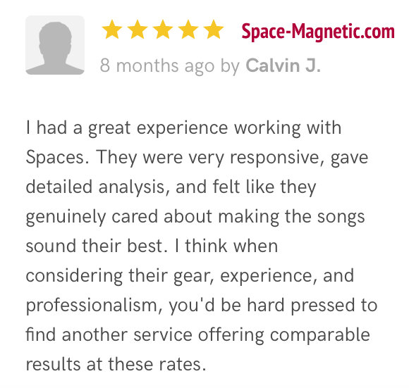 Space-Magnetic com / Music Mastering Testimonial Review